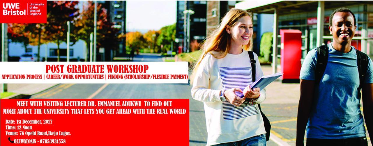 The University of the West of England Bristol: Postgraduate Workshop in Nigeria