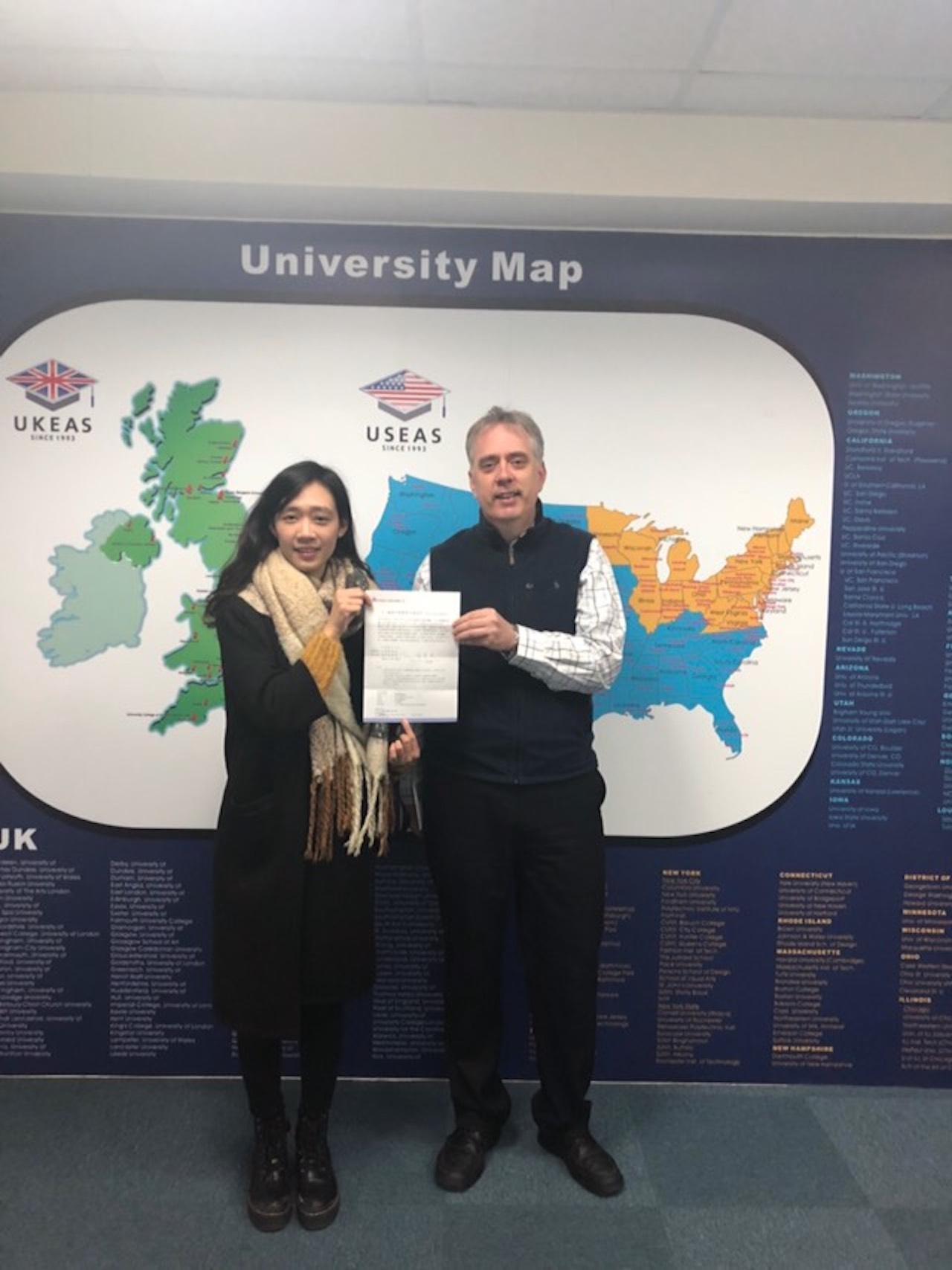 恭喜敏華同學參加 UK UniTour 獲得華航直航倫敦來回機票